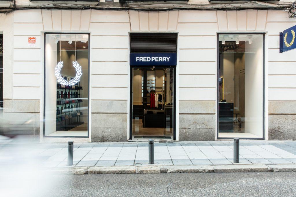 La nueva tienda de Fred Perry en Madrid. Fachada.