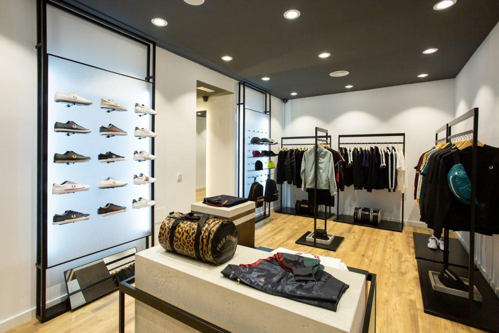 La nueva tienda de Fred Perry en Madrid. Interior.