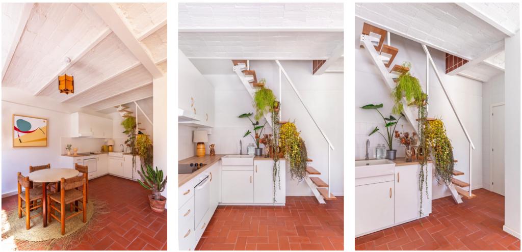 Detalle de las plantas en la vivienda diseñada por Alex March Studio