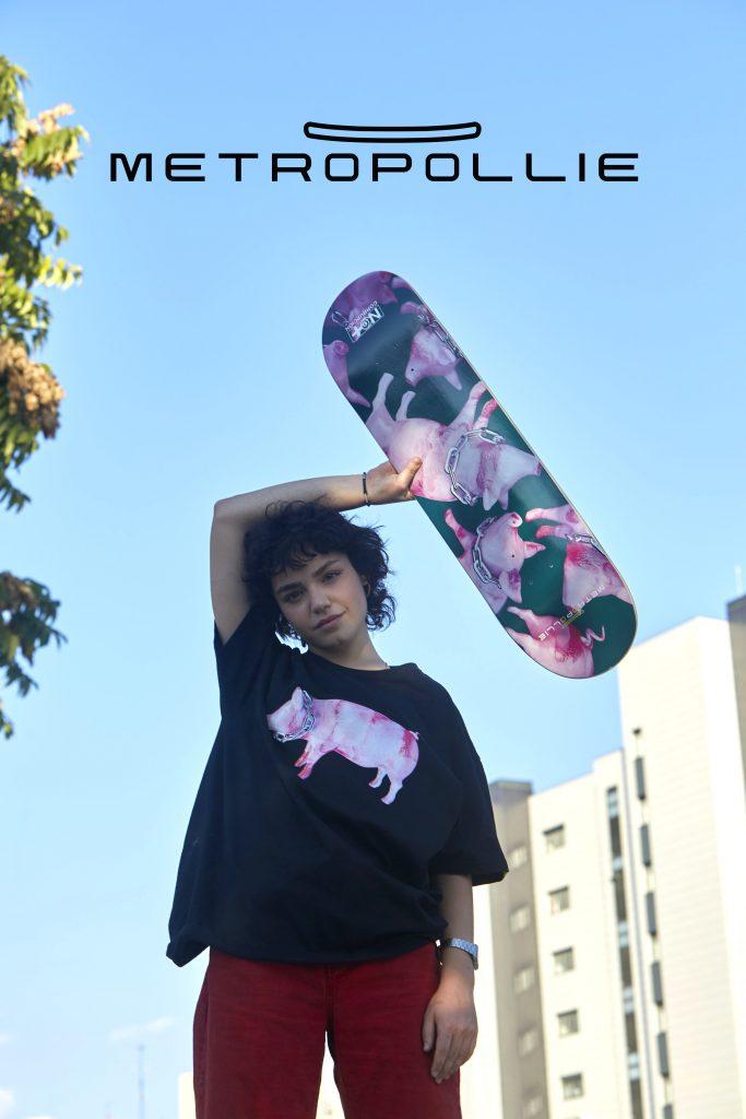 Fotografía promocional de la tienda online de productos de skate Metropollie