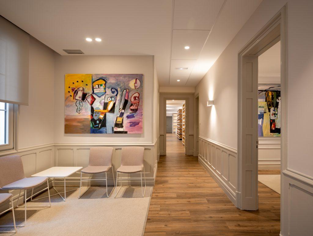 Oficinas convertidas en galerías de arte