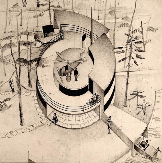 Maqueta e Arne Jacobsen de Casa del Futuro