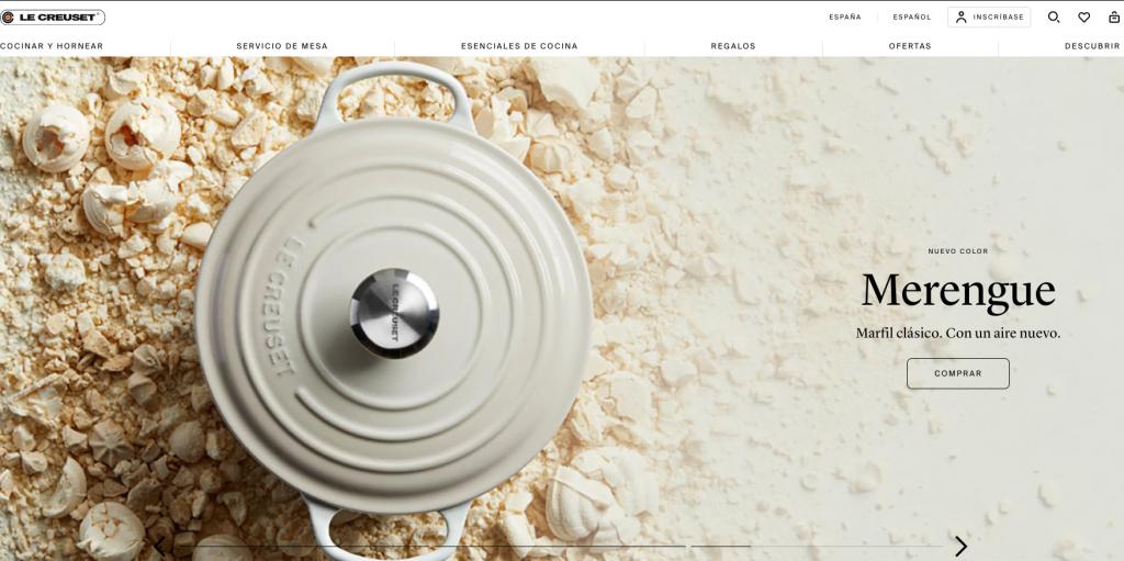 Imagen del sitio web de Le Creuset