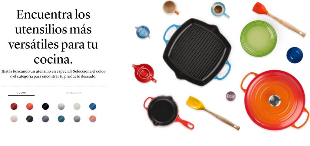 Sitio web de instrumentos culinarios