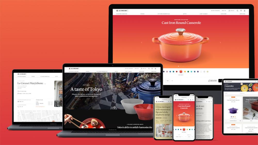 Imagen del nuevo sitio web de Le Creuset